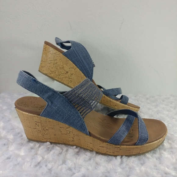 46741151072 Skechers 31723 Beverlee-High Tea Wedge Sandal 10. M 5c65e0e9d6dc527df43bd803